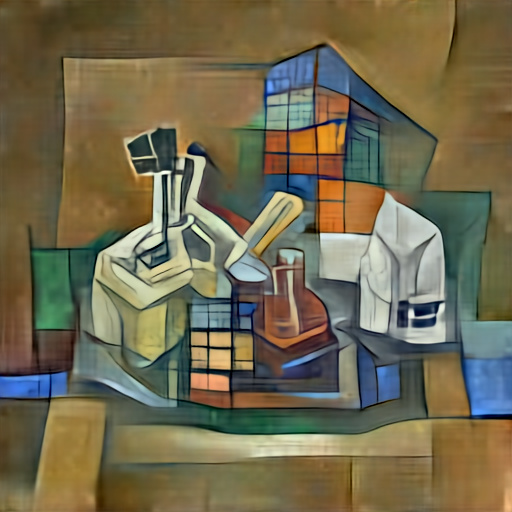 'a cubist painting of a science laboratory' Aleph2Image Dall-E Remake Text-to-Image