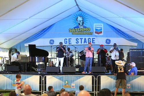 Dr. Brice Miller at Satchmo SummerFest 2021. Photo by Michele Goldfarb.
