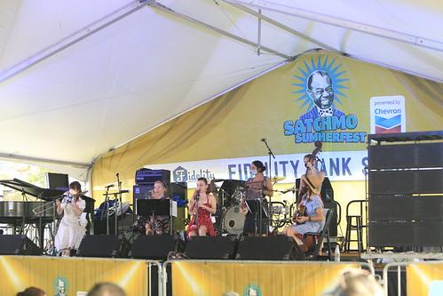 Shake 'Em Up Jazz Band at Satchmo SummerFest 2021. Photo by Michele Goldfarb.