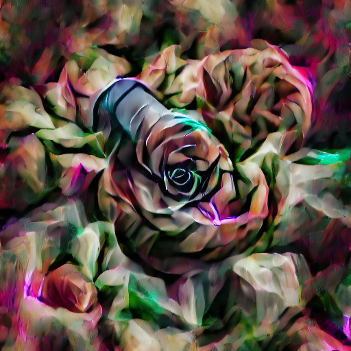 'digital art of a rose' VQGAN Gumbel Text-to-Image
