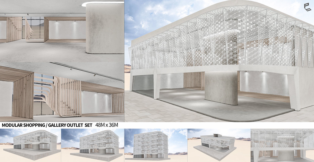 MODULAR SHOPPING/GALLERY OUTLET SET (48m x 36m )