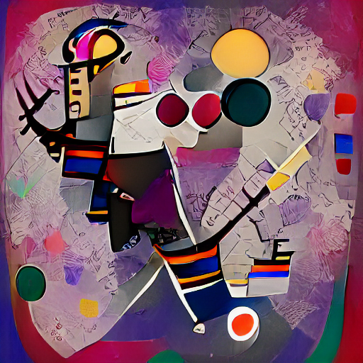 'a king in the style of Kandinsky' VQGAN+CLIP v4 Text-to-Image