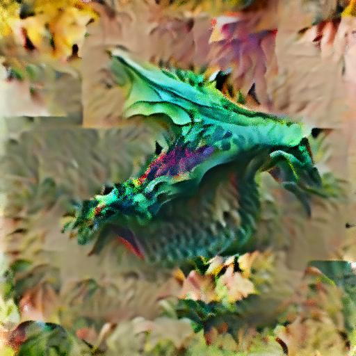 'a dragon' OpenAI DVAE+CLIP Text-to-Image