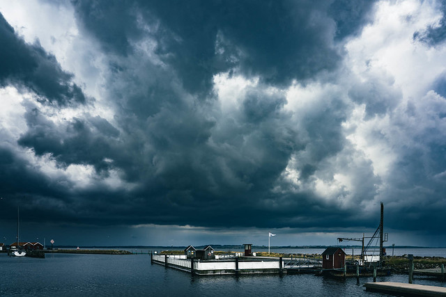 Clouds over Nibe Harbour
