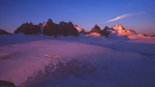 Tramonto sul Plateau du Trient