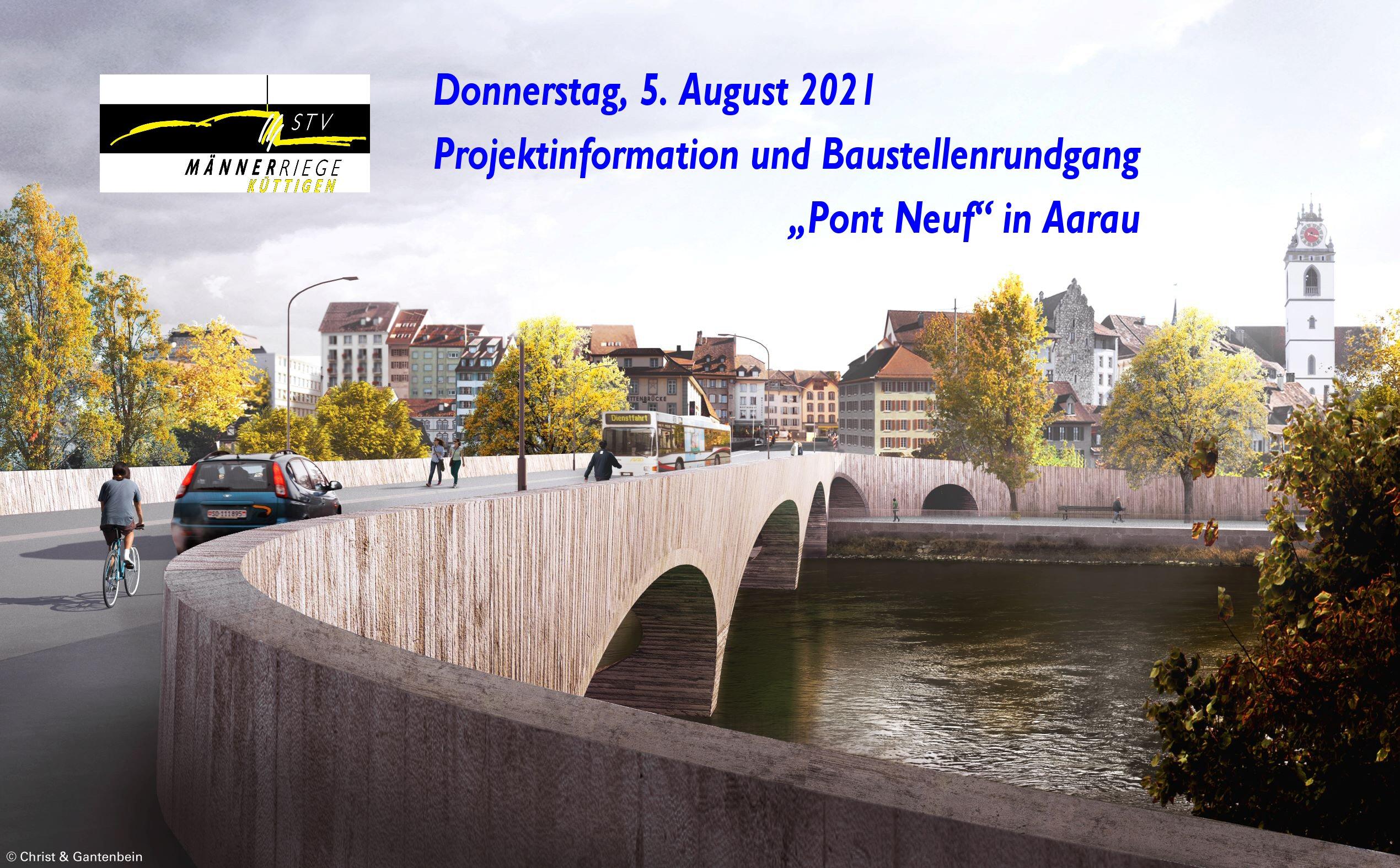 Männerriege: Besichtigung Kettenbrücke