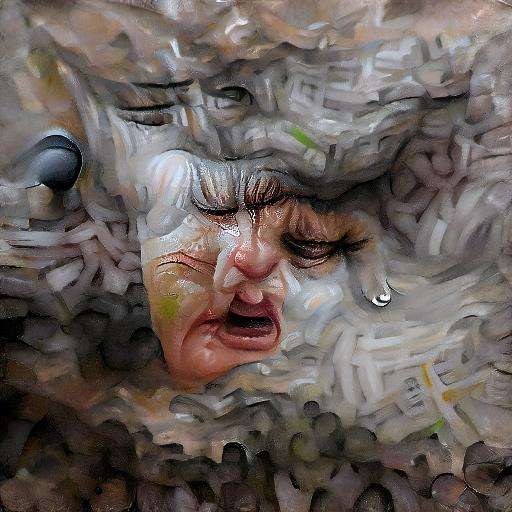 'an ultrafine detailed painting of a crying person' Text2Image VQGAN Text-to-Image