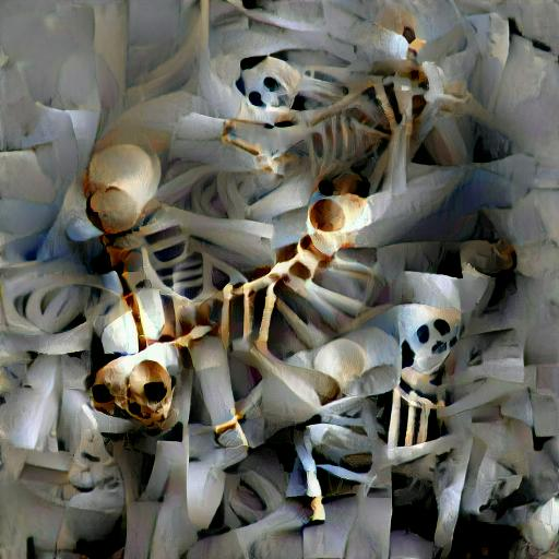 'a skeleton' Text2Image VQGAN Text-to-Image