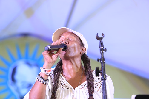 Charmaine Neville at Satchmo SummerFest 2021. Photo by Michele Goldfarb.