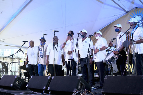 Treme Brass Band at Satchmo SummerFest 2021. Photo by Michele Goldfarb.