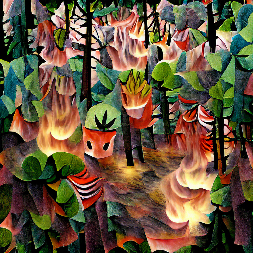 'a forest fire' Monster Maker Text-to-Image