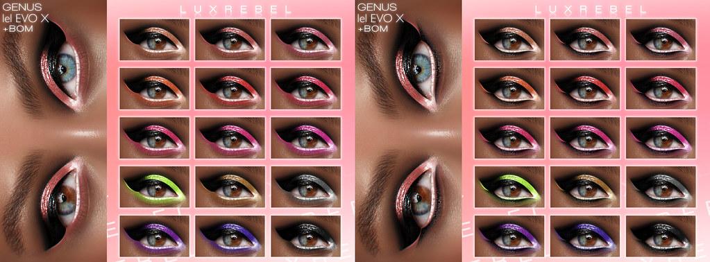 NEW! LUXREBEL ''GET INTO IT YUH'' Eyeshadow [GENUS,LEL EVO X,BOM] @ Mainstore & Marketplace