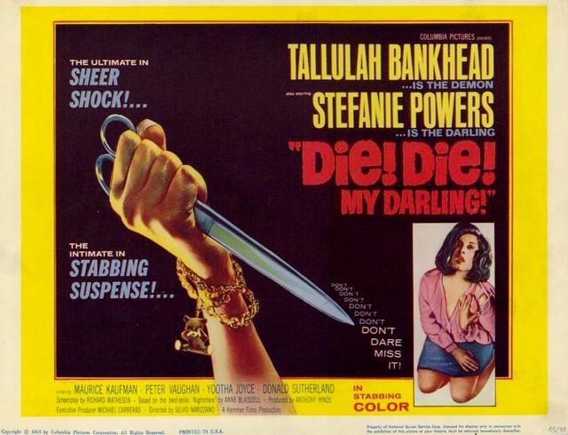 Fanatic / Die! Die! My Darling (Silvio Narizzano, 1965) poster US