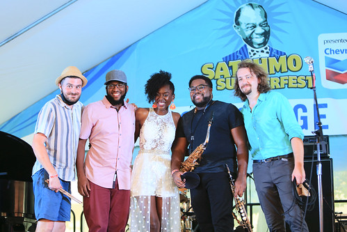 The Nayo Jones Experience at Satchmo SummerFest 2021. Photo by Michele Goldfarb.