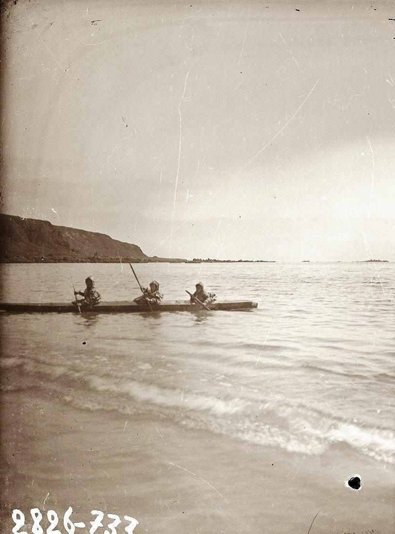 1909. Алеутская трехлючная байдарка. Атту остров