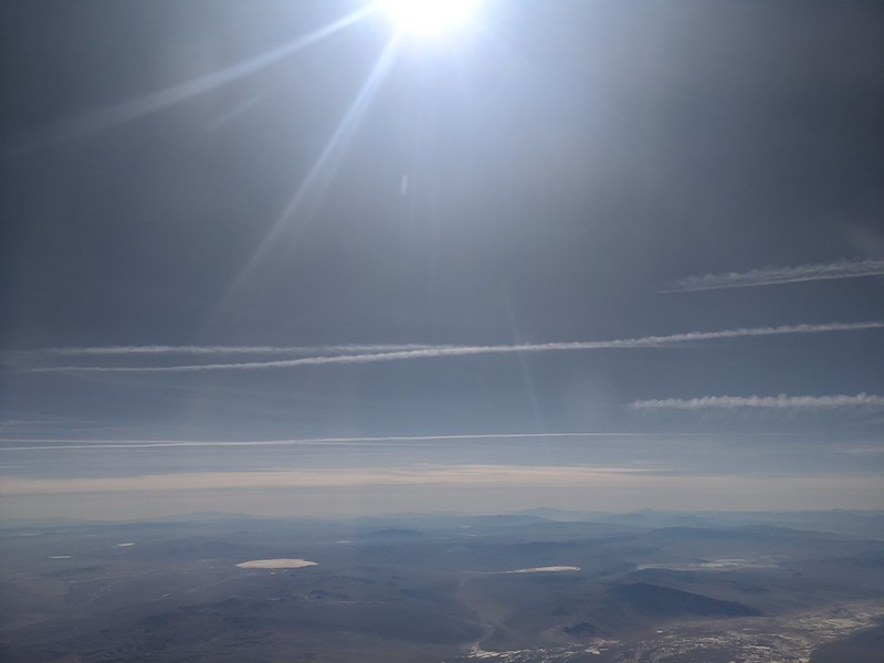 Contrails over the US