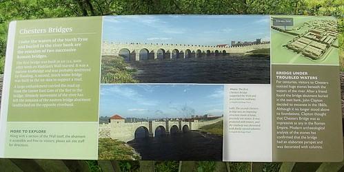 Chester's fort Bridge Info board stitch