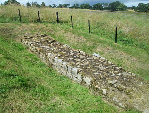 Part of  Hadrian's wall, Chesters Roman Fort, Cumbria