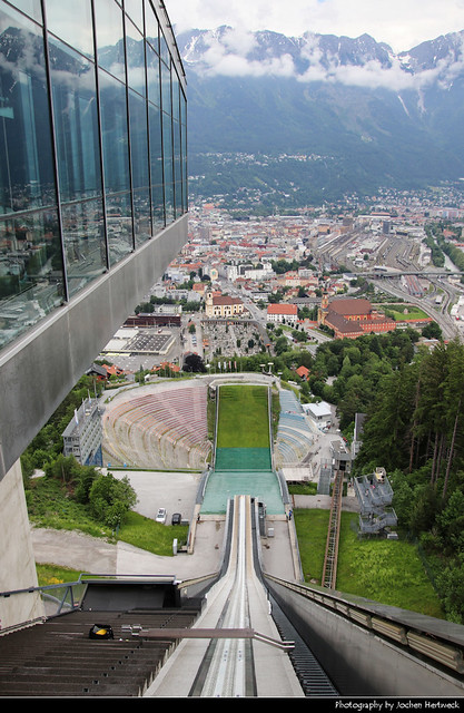 View from Bergisel Schanze, Innsbruck, Austria