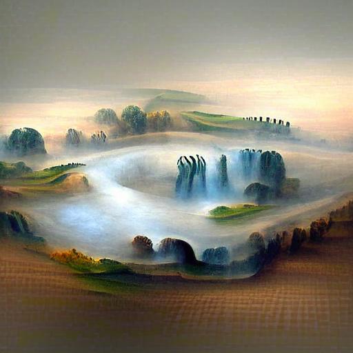 'a landscape made of mist' MSE VQGAN+CLIP z+quantize Text-to-Image