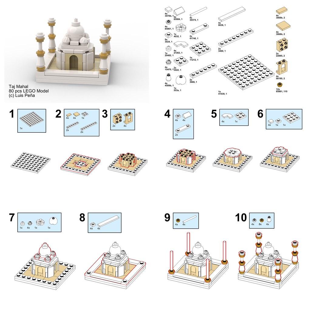 LEGO Micro Taj Mahal