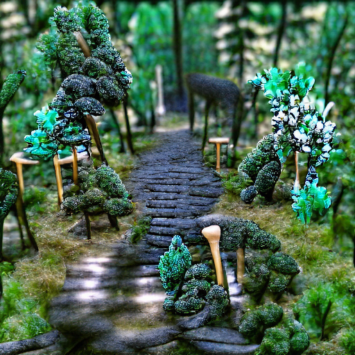 'a forest path' Monster Maker Text-to-Image