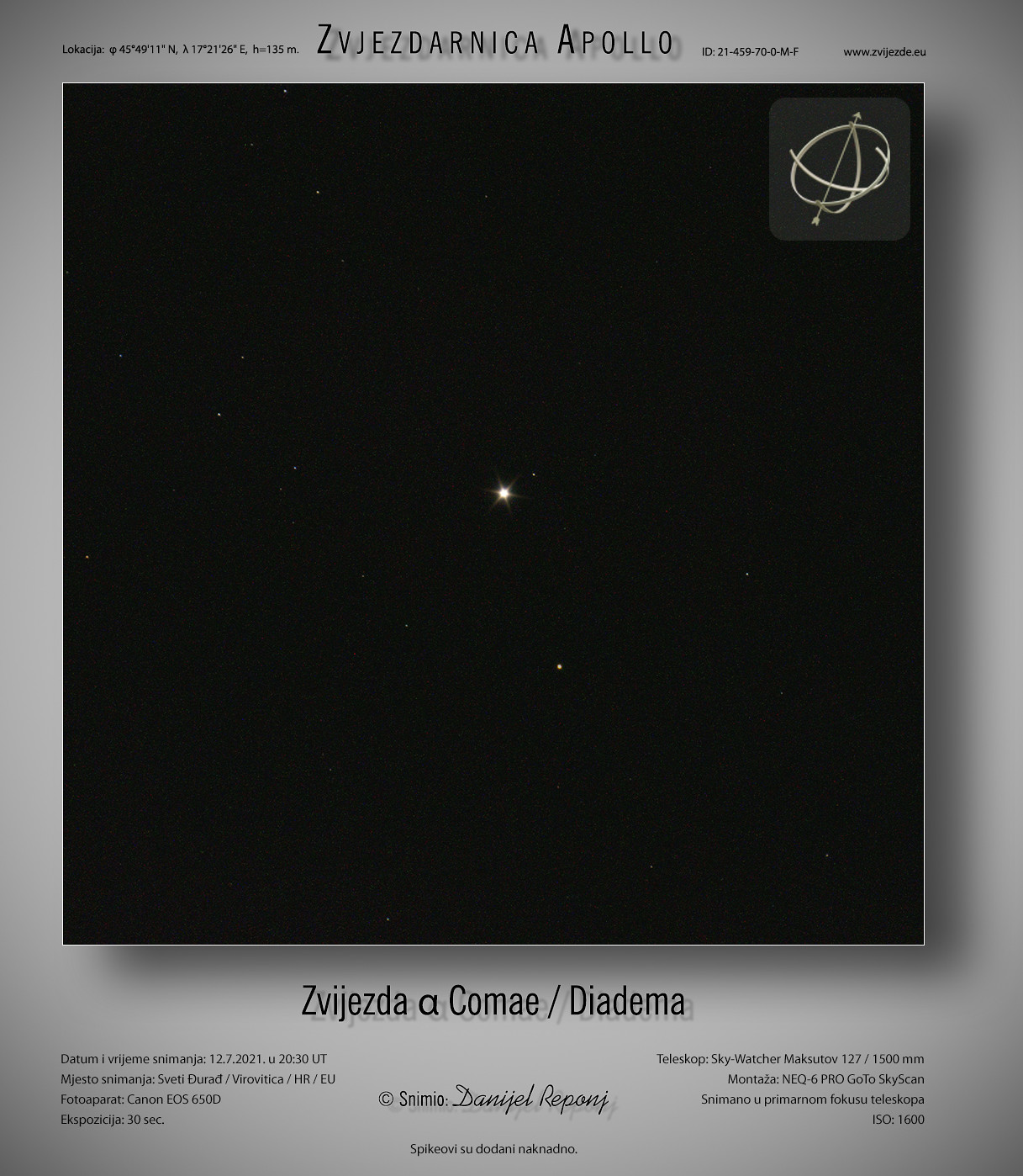 Alfa Berenikine kose - Diadema, 12.7.2021.