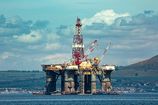 Ocean Valiant semisubmersible drilling rig belonging to American company Diamond Drilling