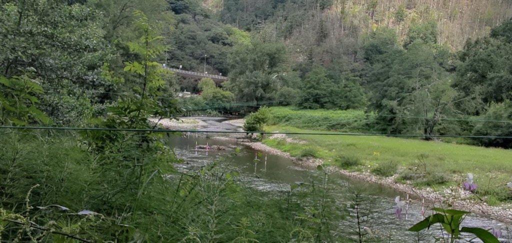 Zona del río Bidasoa dónde ha muerto una persona migrante al intetar cruzar el río.