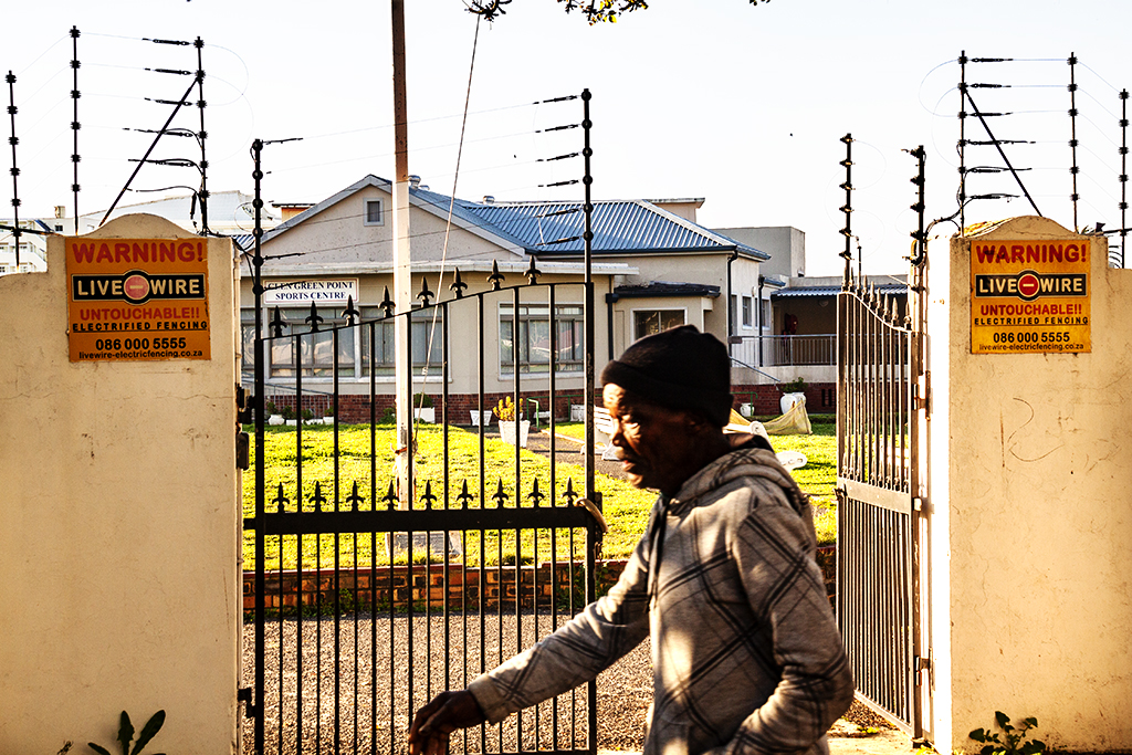 Electric fencing at GLEN GREEN POINT SPORTS CENTRE ON 8-6-21--Cape Town