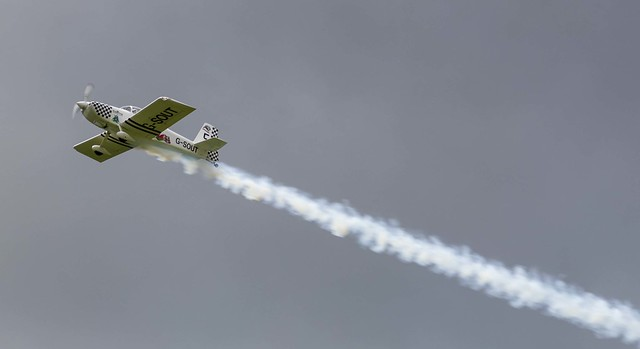 Van's RV8 aircraft from the Raven's Display Team. G-SOUT is member number 5 (Outside left hand side)