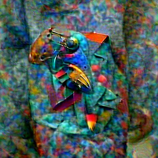 'a bronze sculpture of a colorful parrot in the style of Kandinsky' Deep Daze Text-to-Image