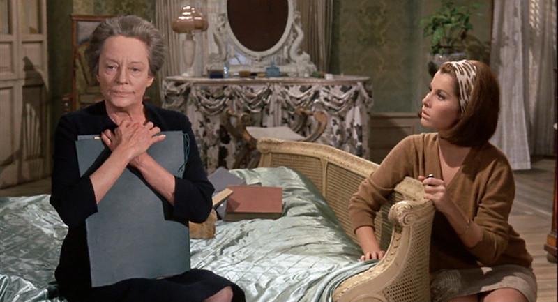 Tallulah Bankhead et Stefanie Powers dans Fanatic / Die! Die! My Darling (Silvio Narizzano, 1965)