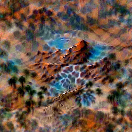 'a desert oasis' Deep Daze Text-to-Image