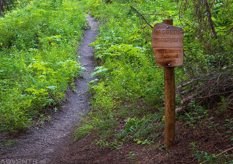 Raggeds Wilderness Sign