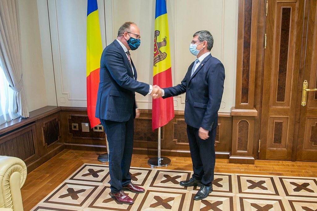09.08.2021 Întrevederea Președintelui Parlamentului, Igor Grosu, cu Ambasadorul României în Republica Moldova, Daniel Ioniță