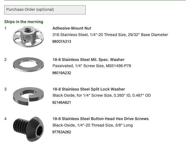 Formotion mounting hardware