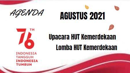 AGENDA  BULAN AGUSTUS 2021  SMP STRADA SLAMET RIYADI