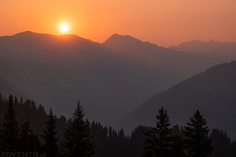 Smoky Sunrise Over The Elks