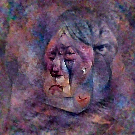 'a crying person' Deep Daze Text-to-Image