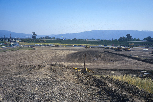 Orchard During Construction of Hewlett Packard