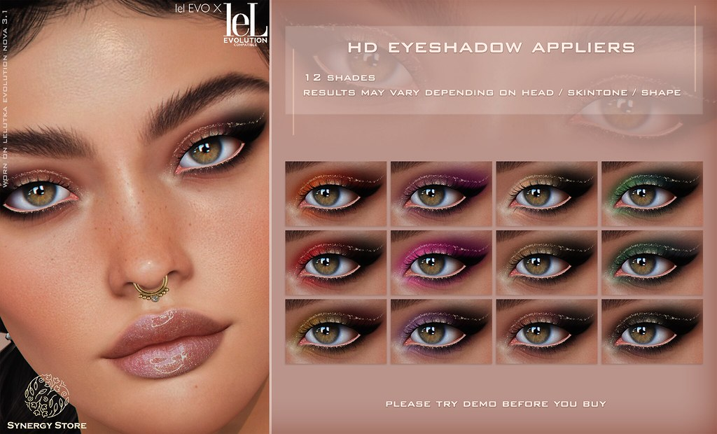 Synergy – Lelutka HD Eyeshadow Applier for EVO/EVO X heads – Akaa♥