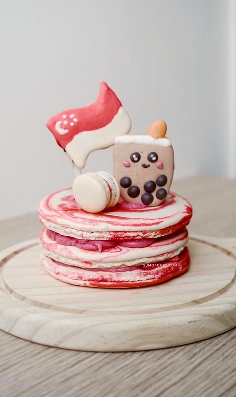 Singapore National Day Macaron Cake