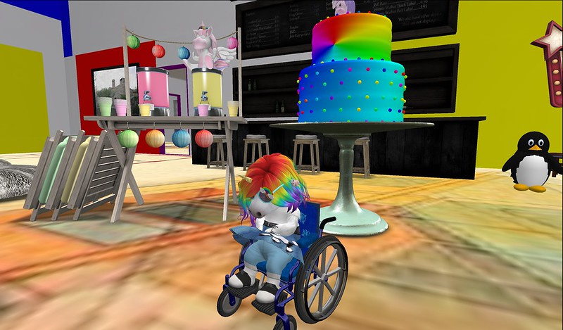 """Minie Birthday pawtees on Monday and Tuesday went great. Thanks for coming!  <a href=""""http://maps.secondlife.com/secondlife/Necrotee/206/223/52"""" rel=""""noreferrer nofollow"""">KnoWhere bigger gallery</a>.  -  <a href=""""https://pieni.art/minie-birthday-2021/"""" rel=""""noreferrer nofollow"""">Blog post with all pics, details and links.</a>"""