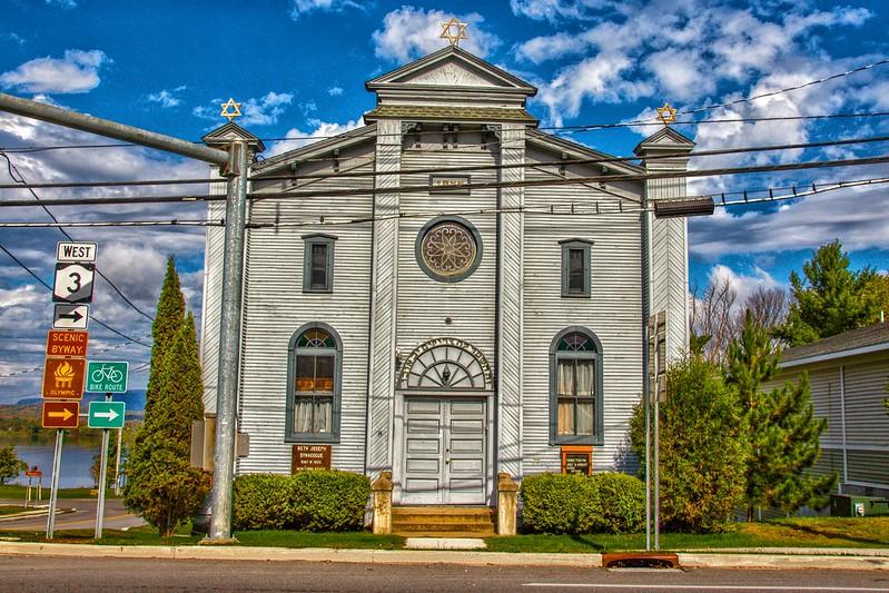 Tupper Lake  New York - Beth Joseph Synagogue - Historic  Building  -  Adirondack National Park-