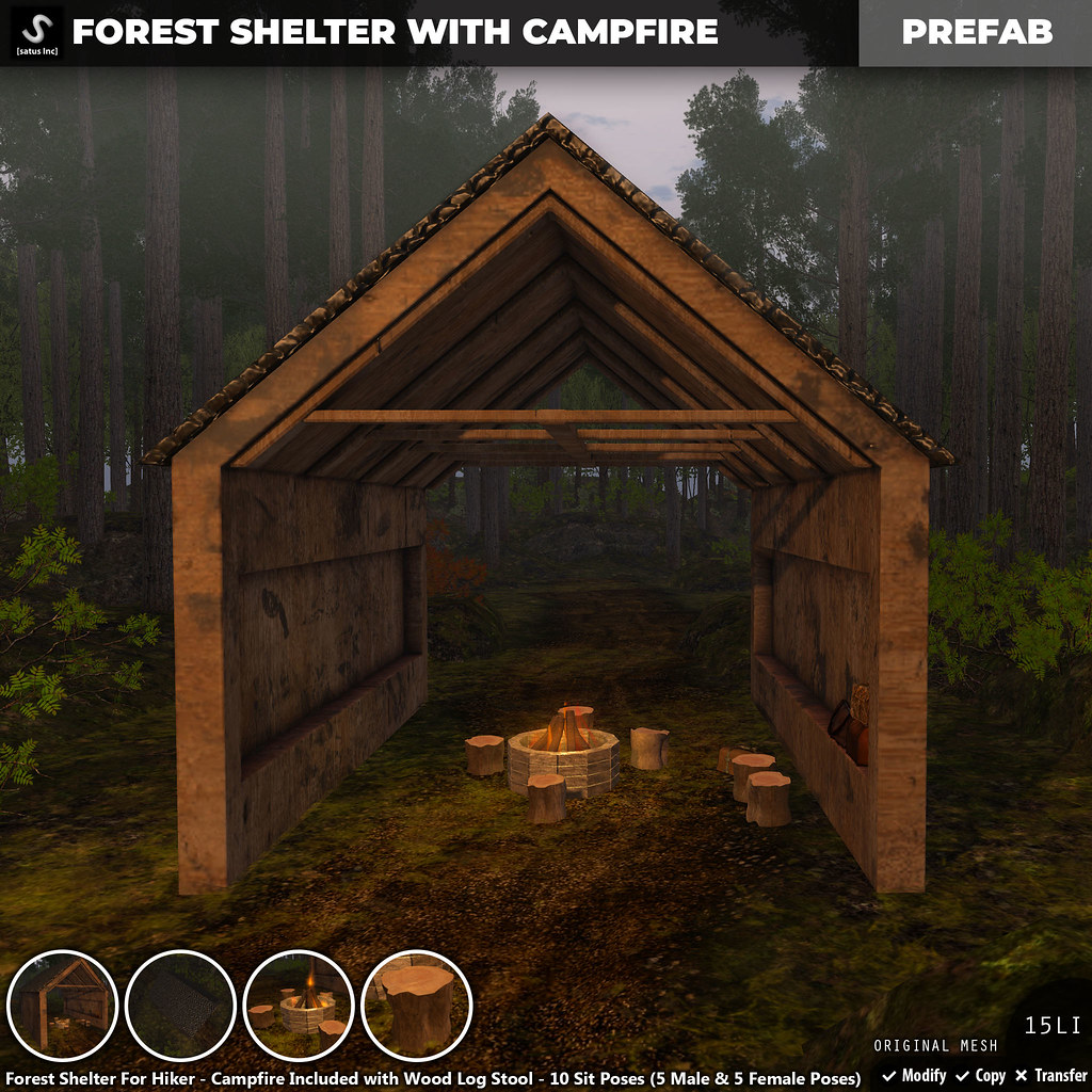 [satus Inc] Forest Shelter With Campfire