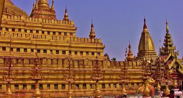MYANMAR,Burma - Bagan-Nyaung U ,rund um die Shwezigon-Pagode, 78416/13928