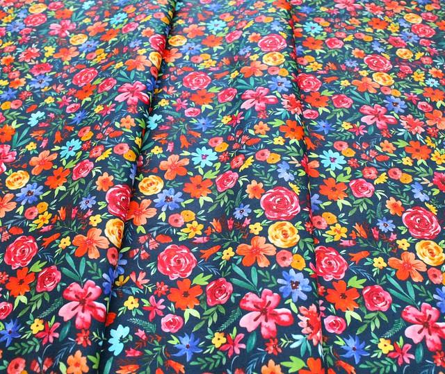 Michael Miller Fabrics Everyone is Invited DCX9800-NAVY Flower Joy Navy