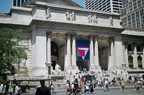 NYC Public Library During Pride - 1994