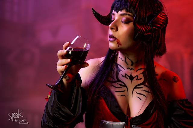 Eva Leexart as Eliza from Tekken 7 by SpirosK photography (Part III: drink with me)